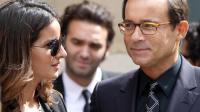 L'ancien présentateur de télévision Jean-Luc Delarue, et sa compagne Anissa, le 16 juin 2011 à Paris [Thomas Samson / AFP/Archives]