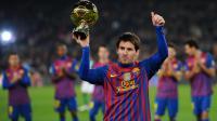 Le triple Ballon d'Or argentin du FC Barcelone Lionel Messi, lors de la présentation du trophée au Camp Nou, le 15 janvier 2012 à Barcelone. [Lluis Gene / AFP/Archives]