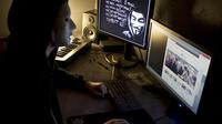 Un hacker du groupe Anonymous [Jean-Philippe Ksiazek / AFP/Archives]
