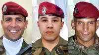 Photos des soldats tués par  Mohamed Merah. De g. à d.: Imad Ibn Ziaten, Abel Chennouf et Mohamed Legouade [ / Sirpa/AFP/Archives]
