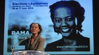 Rama Yade en meeting lors de la campagne électorale pour les législatives, le 6 juin 2012 à Asnières [Mehdi Fedouach / AFP/Archives]