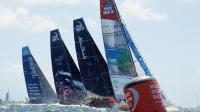 Des concurrents de la Volvo Ocean Race s'élancent de Lorient, le 1er juillet 2012 [Fred Tanneau / AFP/Archives]