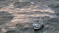 Le cargo Erika le 15 décembre 1999 au large de Lorient [Valery Hache / AFP/Archives]