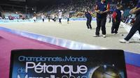 Les championnats du monde de pétanque, le 5 octobre 2012, à Marseille [Boris Horvat / AFP]