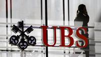 Logo d'UBS, en 2012 à Zurich [Fabrice Coffrini / AFP/Archives]