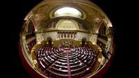 L'hémicycle du sénat à Paris [Joel Saget / AFP/Archives]