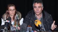 Violette et Jesus Rodriguez, les parents de Chloé, le 17 novembre 2012 à Barjac [Pascal Guyot / AFP/Archives]