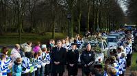 Obsèques le 10 décembre 2012 à Almere de l'arbitre battu à mort le 2 décembre 2012 à l'issue d'un match de foot amateur aux Pays-Bas [Robin Utrecht / ANP/AFP/Archives]