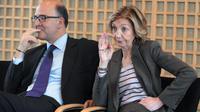 La ministre du Commerce extérieur Nicole Bricq et le ministre de l'Economie Pierre Moscovici au ministère de l'Economie à Paris, le 9 janvier 2013 [Eric Piermont / AFP/Archives]