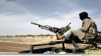 Capture d'écran d'une vidéo de SITE en date du 9 janvier 2013 montrant un membre d'AQMI dans le nord du Mali [- / AFP/Archives]