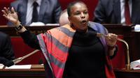 La garde des Sceaux Christiane Taubira pendant le débat sur le mariage homosexuel, à l'Assemblée nationale, le 7 février 2013 [Pierre Verdy / AFP/Archives]