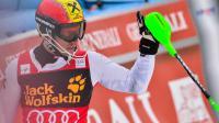 L'Autrichien Marcel Hirscher à l'arrivée du slalom de la Coupe du Monde le 10 mars 2013 à Kranjska Gora [Jure Makovec / AFP/Archives]