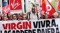 Manifestation de salariés de Virgin, le 30 avril 2013 à Paris [Francois Guillot / AFP/Archives]