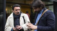 Edwy Plenel et Fabrice Arfi, journalistes de Mediapart, le 21 mai 2013 à l'Assemblée nationale à Paris [Joel Saget / AFP/Archives]