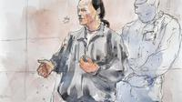 Croquis d'audience de Tony Meilhon réalisé le 22 mai 2013 aux tribunal d'assises de Loire-Atlantique à Nantes [Benoit Peyrucq / AFP/Archives]