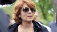 Véronique Genest, le 27 mai 2013 lors des obsèques de Georges Moustaki à Paris [Matthieu Rater / AFP/Archives]