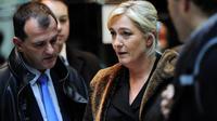 Marine Le Pen et Louis Aliot, vice-président du FN, le 3 novembre 2011 à New York [Emmanuel Dunand / AFP/Archives]