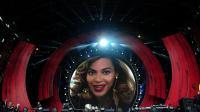 Une vidéo de la chanteuse Beyoncé sur une scène, le 29 septembre 2012 à New York [Emmanuel Dunand / AFP/Archives]