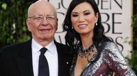 Le magnat de la presse australo-américain Rupert Murdoch et sa troisième épouse Wendi Deng Murdoch, le 16 janvier 2011 à Beverly Hills [Robyn Beck / AFP/Archives]