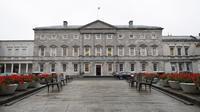 La facade de la Leinster House, où siège le Parlement irlandais