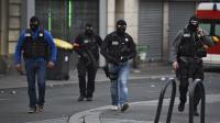 Une patrouille du Raid à Saint-Denis, pendant l'assaut du 18 novembre 2015