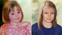 A gauche, Maddie à 3 ans.  A droite, ce à quoi elle pourrait ressembler aujourd'hui à 9 ans.