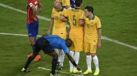 L'utilisation du spray lors d'un match qui opposait le Chili à l'Australie pendant la Coupe du monde