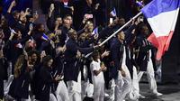 En 2016, lors des derniers Jeux Olympiques d'été, c'est Teddy Riner qui était le porte-drapeau des Bleus