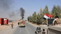Les troupes irakiennes entrent dans la ville de Sharqat, à environ 80 km de Mossoul, le 22 septembre 2016, arrachée des mains de Daesh.