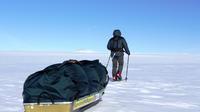 Malgorzata a traversé le pôle sud pendant 1 300 km en tirant son traîneau.