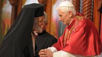 Le pape en visite au Liban le 14 septembre 2012.