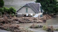 Une maison sinistrée à Saint-Béat (Haute-Garonne).