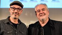 Jean-Yves Ferri (à gauche) et Didier Conrad (à droite) perpétuent pour la troisième fois l'oeuvre de Goscinny et Uderzo avec «Astérix et la Transitalique».