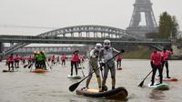 Sur 1 345 inscrits cette année, 700 personnes ont été tirées au sort pour participer à la huitième édition du Nautic Sup Paris Crossing.