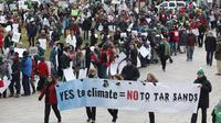 une manifestation pour le climat à Ottawa.