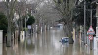 Photo prise à Villeneuve-Saint-Georges, lors des inondations de janvier 2018.
