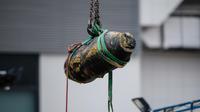 Illustration d'une bombe américaine retrouvée à Hong Kong en 2018.