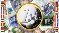 Montage d'illustration sur l'introduction il y a 15 ans de la monnaie unique [DSK / AFP/Archives]