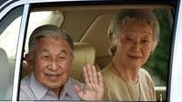 L'empereur du Japon Akihito et l'impératrice Michiko le 14 juillet 2016 à Hayama [KAZUHIRO NOGI / AFP/Archives]
