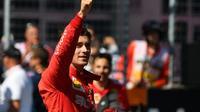 Le Monégasque Charles Leclerc (Ferrari) décroche la pole position au GP d'Autriche à Spielberg, le 29 juin 2019 [Andrej ISAKOVIC / AFP]