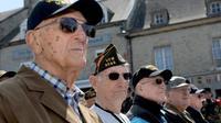 Des vétérans de la Seconde Guerre mondiale lors des cérémonies d'anniversaire du Débarquement à Sainte-Mere-Eglise, en Normandie, le 5 juin 2014 [Guillaume Souvant / AFP]