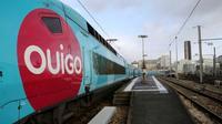 Le trafic des trains Ouigo a été particulièrement perturbé, gare Paris Montparnasse-Vaugirard à Paris, le 10 décembre 2017 [JACQUES DEMARTHON / AFP/Archives]