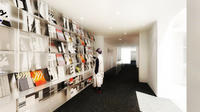 La librairie de la nouvelle Fondation Henri Cartier-Bresson.