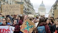 Manifestation des jeunes pour le climat, le 15 mars 2019 à Paris [Thomas SAMSON / AFP]