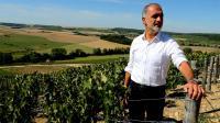 Michel Drappier, vigneron et producteur de champagne, pose dans ses vignobles à Urville, le 11 septembre 2015 [François NASCIMBENI / AFP]