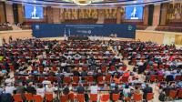 Le chef de la diplomatie américain John Kerry lors de son discours prononcé devant les représentants de 197 pays réunis pour la 28e Réunion des Parties au Protocole de Montréal, à Kigali au Rwanda le 14 octobre 2016. [CYRIL NDEGEYA / AFP]