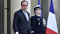 François Hollande à l'Elysée le 11 avril 2017 [Philippe LOPEZ / AFP]