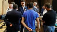 Première réunion à Bercy de l'ensemble des acteurs du dossier de l'équipementier automobile creusois GM&S, en liquidation judiciaire, présidée par le ministre des Finances Bruno Le Maire, le 11 juillet 2017 [FRANCOIS GUILLOT / AFP]