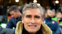 Olivier Dall'Oglio, alors entraîneur de Dijon, suit le match contre Rennes au  Roazhon Park, le 8 décembre 2018  [Jean-François MONIER / AFP/Archives]