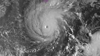 Le puissant ouragan Lane, le 22 août 2018, se dirige vers Hawaï [HO / NOAA/AFP]